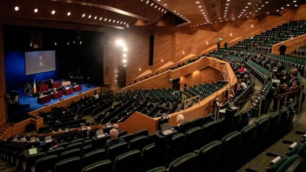 Das irische Parlament im Convention Center der Hauptstadt Dublin. (Bild: AFP )