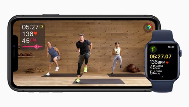 """Apple bietet mit seinem """"Fitness+""""-Abo kostenpflichtige Fitness-Tutorials um 10 Dollar im Monat an."""