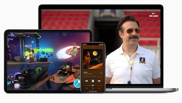 """Mit seinem """"One""""-Abo bündelt Apple den hauseigenen Musik-, Videostreaming- und Gaming-Dienst. (Bild: Apple)"""