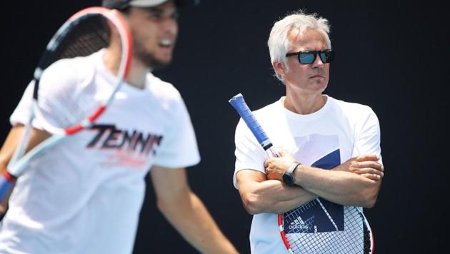 Dominic Thiem und Alex Stober (Bild: GEPA )