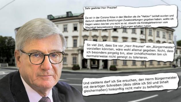 Stadtchef Harald Preuner ist normalerweise nicht geneigt, Unhöflichkeiten zu tolerieren. Die Folge: ein frecher Mailverkehr mit einem Mitarbeiter. (Bild: Tröster, zVg)