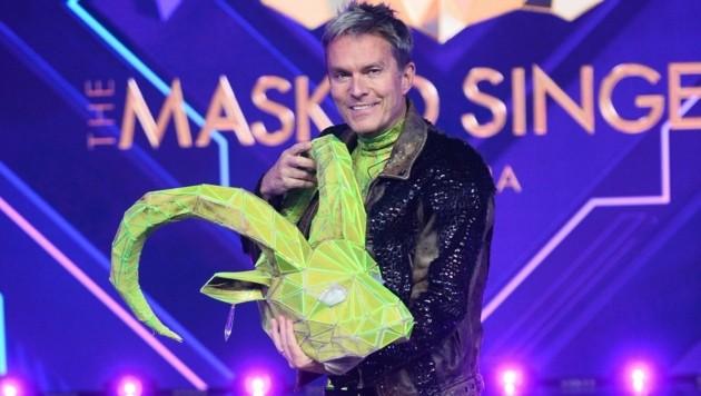 """Unter der Maske des Steinbocks steckte bei """"The Masked Singer Austria"""" ORF-Star Alfons Haider. (Bild: PULS 4/Julia Feldhagen)"""