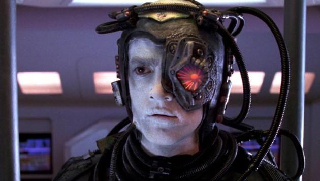 """Cyborgs sind ein beliebtes Motiv in der Science-Fiction: Hier sehen Sie einen """"Borg"""" aus der TV-Serie """"Star Trek""""."""