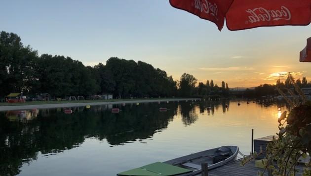 Ein besinnlicher Abend bei der alten Donau (Bild: Leserreporter/ Andrea K.)