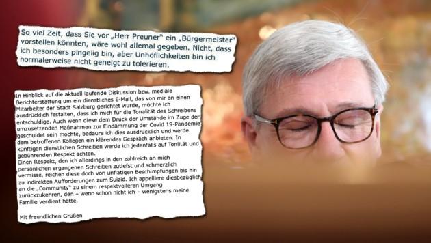Nach dem Wirbel im Internet und in der Stadtpolitik um ein freches Email aus den Amtsräumen von Salzburgs Bürgermeister Harald Preuner, entschuldigte sich dessen Büroleiter für die Tonalität – und bat um mehr Respekt. (Bild: ANDREAS TROESTER)