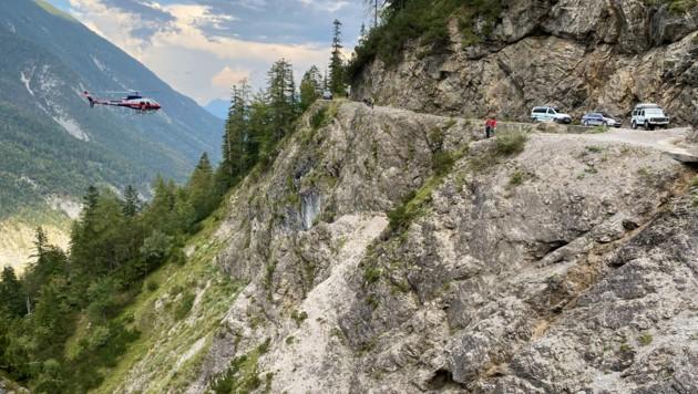 Kurz vor der Ganalm stürzte der 68-Jährige etwa 50 Meter ab.