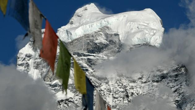 Blick auf den Mount Kangtega 140 Kilometer nordöstlich von Kathmandu (Bild: APA/AFP/PRAKASH MATHEMA)