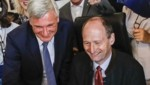 Stadtchef Harald Preuner (li.) und sein Büroleiter Bernd Huber stehen wegen eines frechen Antwortschreibens in der Kritik. Sie selbst fordern Respekt. (Bild: Tschepp Markus)