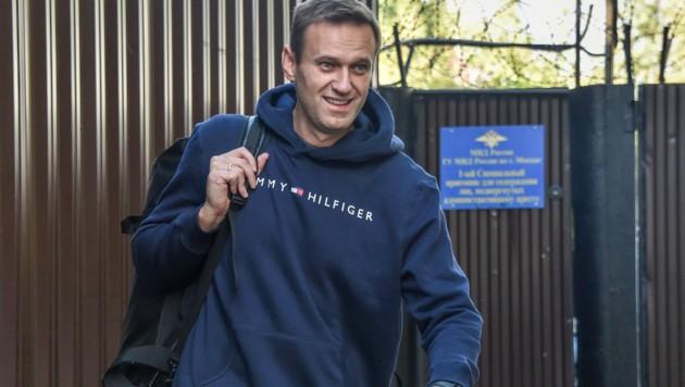 Nawalny im August 2019, nachdem er einen Monat in einem Untersuchungsgefängnis verbracht hatte. (Bild: AFP)