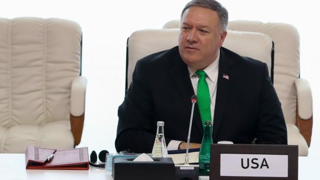 """US-Außenminister Mike Pompeo droht UNO-Staaten mit """"Konsequenzen"""", falls die Sanktionen gegen den Iran nicht wieder in Kraft treten. (Bild: AFP)"""