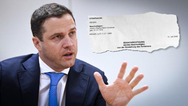 Strafsache Gudenus: Die Staatsanwaltschaft stellte jetzt alle Drogenermittlungen ein. (Bild: APA/ROBERT JAEGER, zVg, Krone KREATIV)