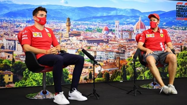 Charles Leclerc (li.) und Sebastian Vettel (Bild: GEPA)