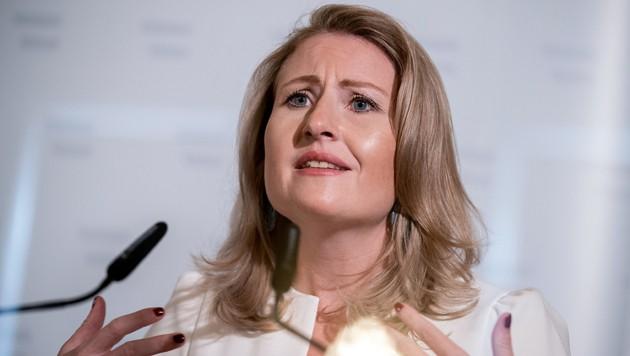 """Frauenministerin Susanne Raab: """"Jeder Gewaltakt ist einer zu viel und hat in unserer Gesellschaft keinen Platz."""" (Bild: APA/Georg Hochmuth)"""