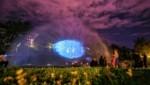 Projektionen auf einer Wasserwand von Markus Wilfling & studio Asynchrome (Bild: Sabine Hoffmann)