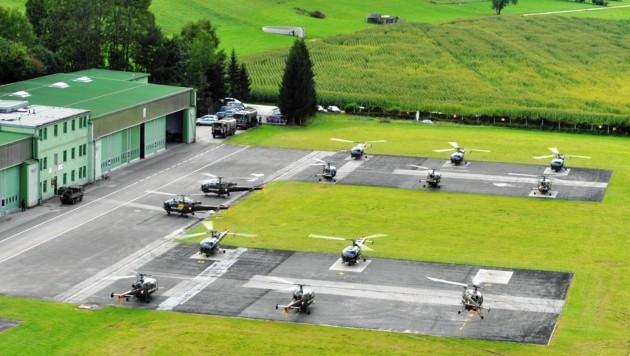 Im Fliegerhorst Aigen gab es einen Cluster. (Bild: Bundesheer/Wiederstein)