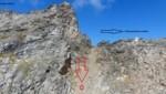 Hier stürzte die Frau ab. (Bild: Polizei/AEG (Alpine Einsatzgruppe))