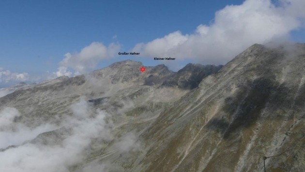 Am Weg vom Großen zum Kleinen Hafner passierte das Unglück. (Bild: Polizei/AEG (Alpine Einsatzgruppe))