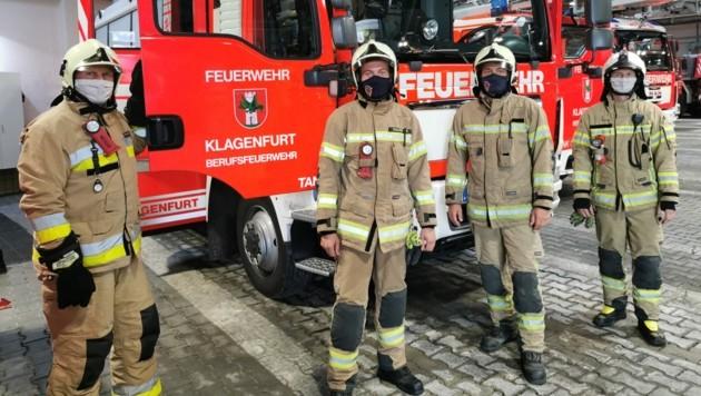 Einsatzkräfte der Berufsfeuerwehr Klagenfurt (Bild: BF Klagenfurt)