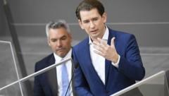 Bundeskanzler Sebastian Kurz und Innenminister Karl Nehammer (beide ÖVP) (Bild: APA/Robert Jäger)