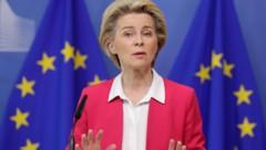 EU-Kommissionspräsidentin Ursula von der Leyen appellierte an die Mitgliedsstaaten, Migration gemeinsam zu gestalten. (Bild: AP)