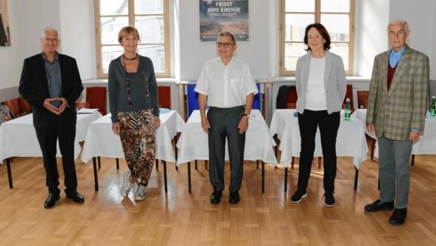 Franz Küberl, Beate Winkler, Antony Scholz, Karin Strobl und Alfred Stingl sind die Initiatoren der Initiative. (Bild: Christian Jauschowetz)
