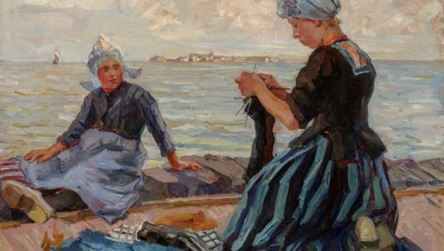 """Friederike Koch Langentreu """"Hollaendische Maedchen am Strand"""" (1911) (Bild: Universalmuseum-Joanneum)"""