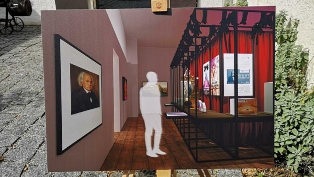 Ein erster virtueller Blick in die Jubiläumsausstellung (Bild: Carina Lampeter)