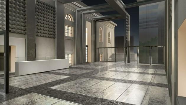 Schöne neue Foyer-Welt: 370 Quadratmeter auf zwei Ebenen ab Juli 2022 (Bild: Internationale Stiftung Mozarteum)