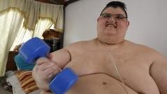 Der Mexikaner Juan Pedro Franco galt mit 595 Kilogramm als dickster Mann der Welt - bis er durch hartes Training und zwei Operationen mehr als 200 Kilogramm verlor. (Bild: AFP )