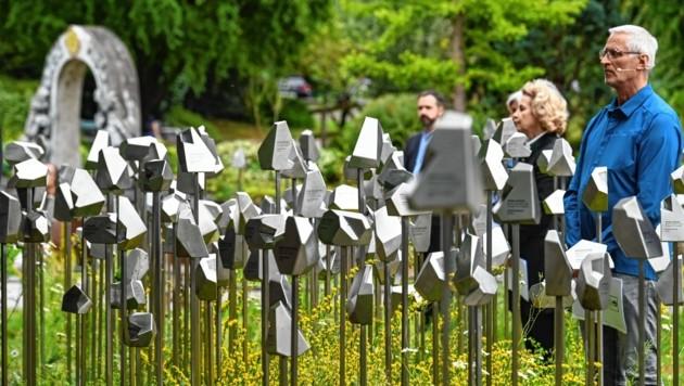 Der Gedenkort wurde am Donnerstag der Öffentlichkeit vorgestellt (Bild: LIEBL Daniel   zeitungsfoto.at)
