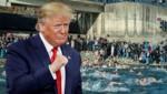 US-Präsident Donald Trump könnte bald der Namensgeber des Gazivoda-Stausees im Kosovo werden. (Bild: APA/AFP/Armend Nimani, AP, krone.at-Grafik)