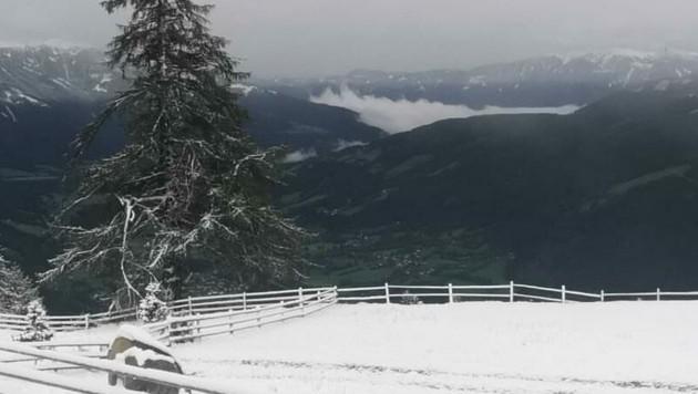 Am Maltaberg hat es geschneit. (Bild: Magdalena Gritzner )