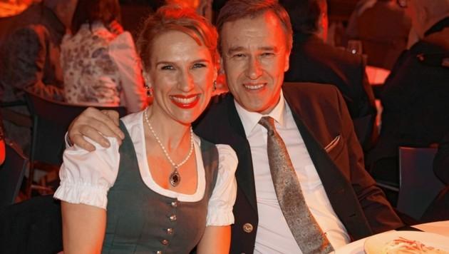 Sturm-Präsident Christian Jauk mit Freundin Kathrin Nachbaur. (Bild: Sepp Pail)