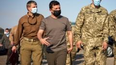 """""""Die Ukraine hat 26 ihrer Söhne verloren"""": Präsident Wolodymyr Selenskyj (Bild: AP)"""