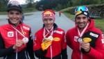 Franz Josef Rehrl (Mitte) holte seine zweite ÖM-Goldene. (Bild: ÖSV/Derganc)