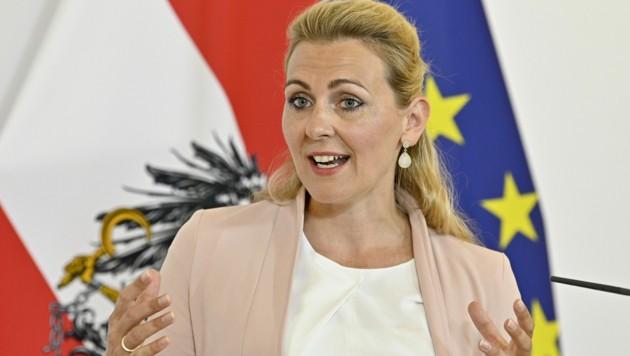 Arbeitsministerin Christine Aschbacher (ÖVP) (Bild: APA/HANS PUNZ)