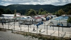 Das griechische Flüchtlingslager Malakassa (Archivbild) (Bild: AFP)