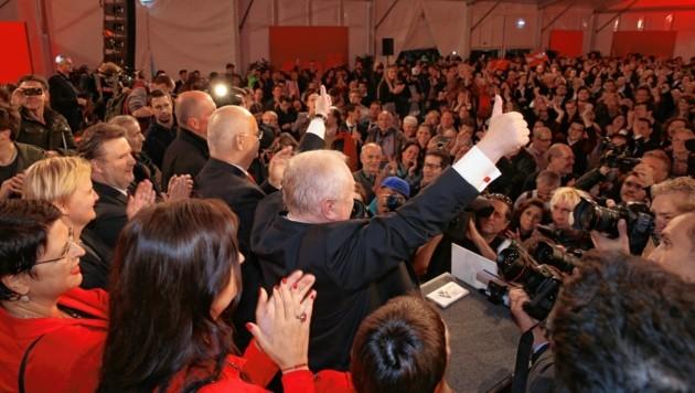 Eine Wahlparty wie 2015 wird es für die SPÖ heuer definitiv nicht geben. (Bild: Zwefo)