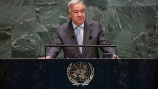 """UN-Generalsekretär Antonio Guterres: """"Wir können diese Herausforderung überwinden."""" (Bild: AFP)"""
