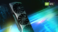 Eine Geforce RTX 3080 Trinity vom Hersteller Zotac (Bild: Zotac)