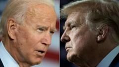 Joe Biden (l.) und sein Kontrahent Donald Trump (Bild: APA/AFP/JIM WATSON, Brendan Smialowski)