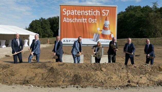 Am 29. September fiel mit einem Spatenstich der offizielle Startschuss für den Abschnitt Ost, den zweiten Teil der S7 (Fürstenfelder Schnellstraße). (Bild: Asfinag)