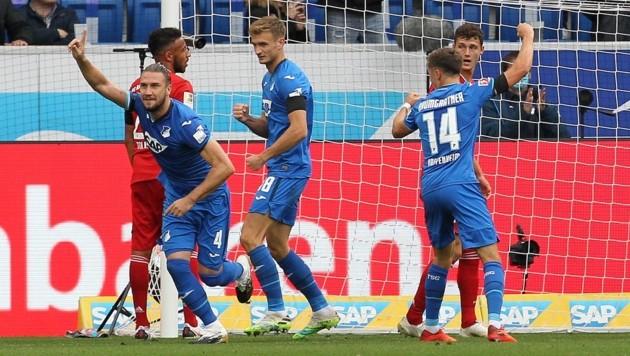 Ermin Bicakcic (links, Nummer vier) (Bild: AFP)