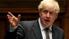 """Der britische Premier Boris Johnson will ein """"Sicherheitsnetz"""" für den Fall eines """"harten"""" Brexit knüpfen. (Bild: APA/AFP/UK PARLIAMENT/JESSICA TAYLOR)"""