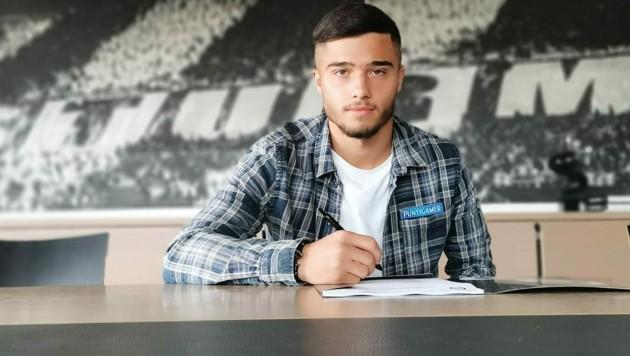 Jusuf Gazibegovic unterschrieb langfristig beim SK Sturm (Bild: SK Sturm)