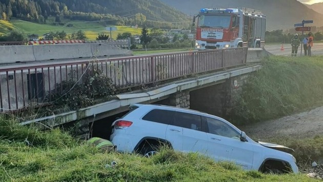 Unfall in Neukirchen (Bild: FF Neukirchen)