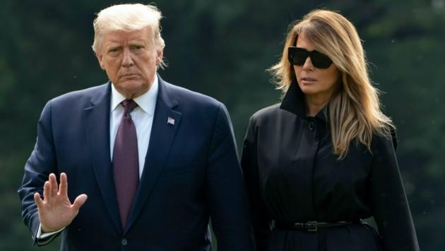 US-Präsident Donald Trump und First Lady Melania (Bild: AFP)