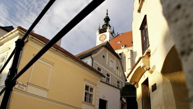 Der Blick auf die Piaristenkirche in Krems (Bild: Stadt Krems)
