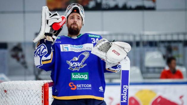 Ersatz für Beskorowany (Foto) ist da: Der Lette Gudlevskis ist neuer VSV-Goalie. (Bild: GEPA)
