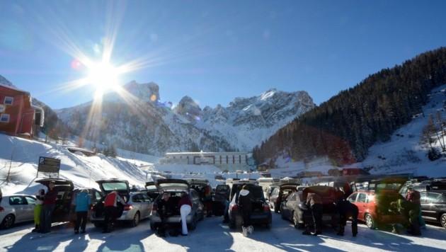 Zu 70 Prozent kommen Einheimische zum Skifahren in die Axamer Lizum. (Bild: Andreas Fischer )
